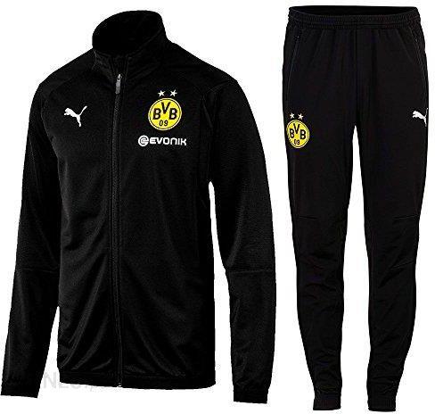 6519fa83c4f3a Amazon Puma piłka nożna BVB Borussia Dortmund Poly dres treningowy 2018  2019 kurtka spodnie dziecięce męskie żółte czarne, czarny, xl - Ceneo.pl