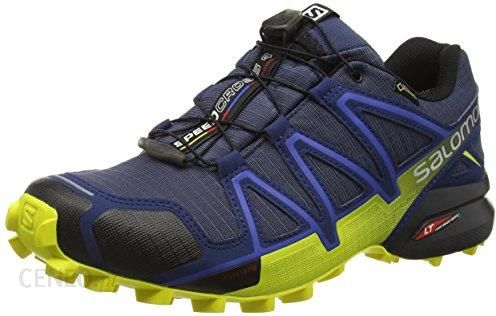 Amazon Buty do biegania w terenie Salomon Speedcross 4 GTX dla mężczyzn, kolor: niebieski, rozmiar: 42 23 Ceneo.pl