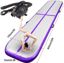 Soozier 16.5' Air Track Inflatable Tumbling Mat For Gymnastics