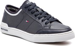 a356bbd9f22df Półbuty TOMMY HILFIGER - Core Corporate Leather Sneaker FM0FM00552 Midnight  403 eobuwie