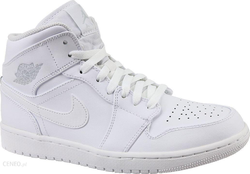 Buty Nike Męskie Air Jordan 1 MID 554724 104 Białe Ceny i opinie Ceneo.pl