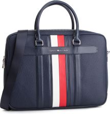 9280d859c54e1 Torba na laptopa TOMMY HILFIGER - Elevated Leather Comuputer Bag AM0AM04462  002 eobuwie