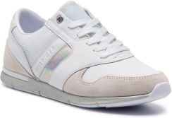 009939fad8e7e Sneakersy TOMMY HILFIGER - Iridescent Light Sneaker FW0FW04100 White Silver  902 eobuwie