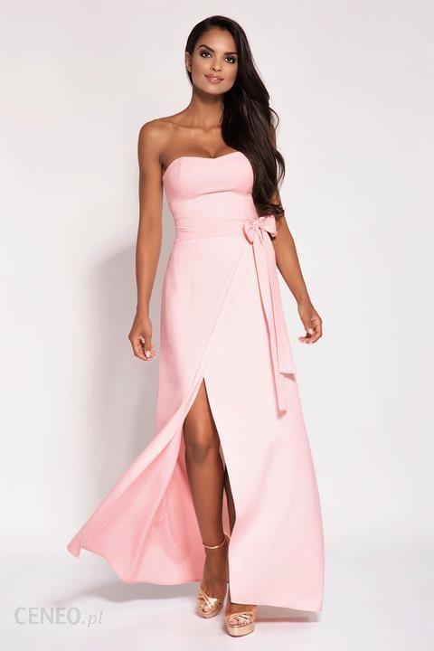 b5519c37ce Elegancka sukienka maxi bez ramiączek M Różowy - Ceny i opinie ...