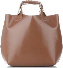 5982a08162bd9 Eleganckie Torebki Skórzane Shopper Bag Ziemiste (kolory) ...