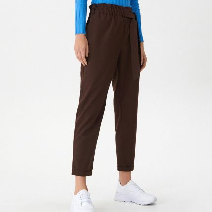 824f2d297bc5 Reserved - Spodnie z ozdobną klamrą - Khaki - Ceny i opinie - Ceneo.pl
