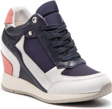 0d296d3bbf3e66 Sneakersy GEOX - D Nydame D540QA 08511 C0899 White/Navy eobuwie