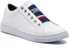 214f4a797ca82 Sneakersy TOMMY HILFIGER - Tommy Elastic City Sneaker FW0FW04019 White 100  eobuwie