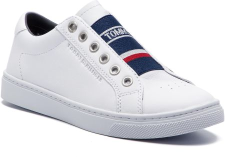 4b97850b5053e Sneakersy TOMMY HILFIGER - Tommy Elastic City Sneaker FW0FW04019 White 100  eobuwie