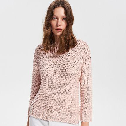 dc030a4cc23d Reserved - Sweter z kokardką z tyłu - Różowy - Ceny i opinie - Ceneo.pl