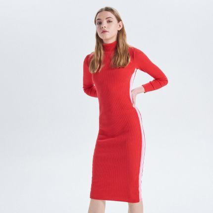 1cdde13313 Cropp - Sukienka w prążki z lampasami - Czerwony ...
