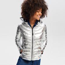 Pikowana kurtka Srebrny