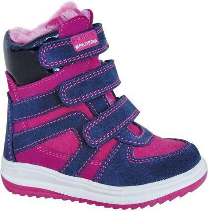 21626b1ee Protetika dziewczęce buty zimowe za kostkę Ebony, 21, różowe/niebieskie,