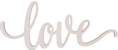 Amazon Winomo Drewniane Litery Dekoracyjna Z Napisem Love Dekoracyjna Litera 3d Dekoracja ścienna 305 X 127 X 04 Cm Ceneopl