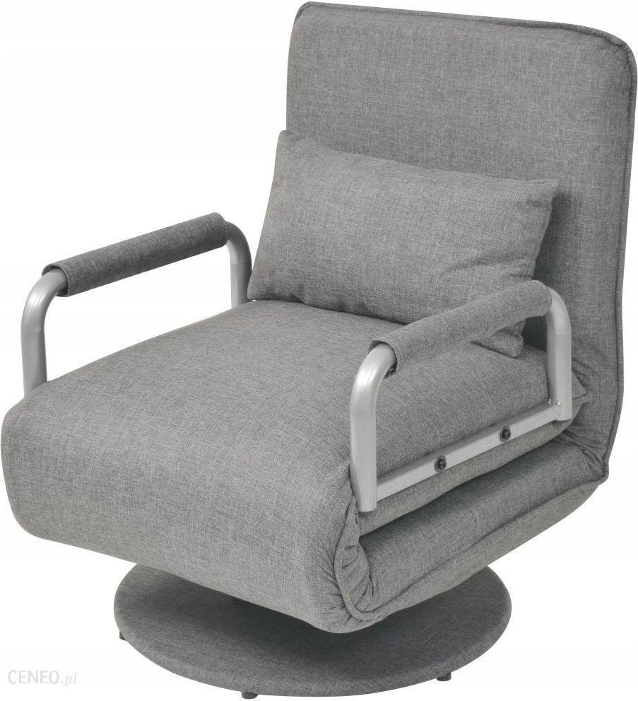 Vidaxl Obrotowe Krzesło Biurowe, Jasnoszare, Tkanina Ceny