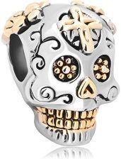 e15f2d069aaa2 Amazon LuckyClover biżuteria krzyż trupia czaszka Charm Fit bransoletki  Pandora Charm