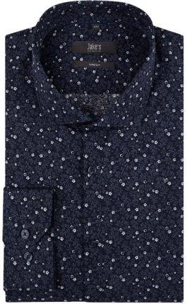9afcc8de586ac Koszula biznesowa o kroju super slim fit z wzorem w drobne kwiaty ...