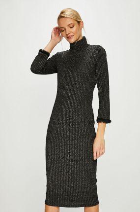 d623d84a38 Długa bawełniana sukienka tuba ciemnoszara T106 - Ceny i opinie ...