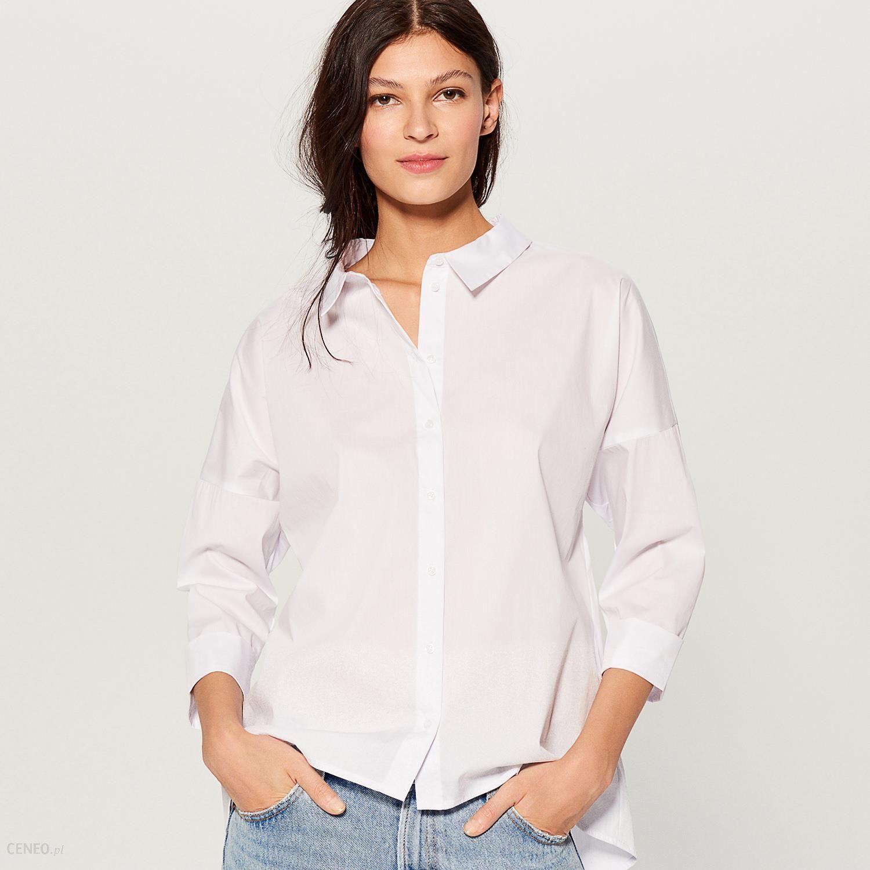 86e361d1b3b7ba Mohito - Koszula oversize z dekoltem na plecach - Biały - Ceny i ...