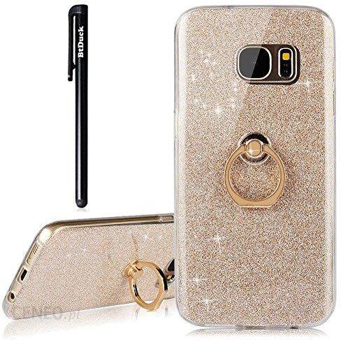 Amazon BtDuck etui do Samsung Galaxy S7 – błyszczące etui na telefon Samsung Galaxy S7 Ultra Slim cienkie z pierścieniem Soft Transparent TPU silikono