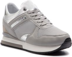 2d6f26292d7cf Sneakersy TOMMY HILFIGER - Glitter Textile Wedge Sneaker FW0FW03893 Diamond  Grey 001 eobuwie