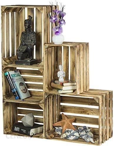 0a4557ac8d32d3 Amazon Laublust 5-częściowy zestaw drewnianych skrzynek w stylu vintage, do  budowania mebli,
