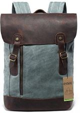 e0e79703bbfa4 Amazon Vintage plecak skórzany płótno torba podróżna plecak dla studentów  szkoła i podróż