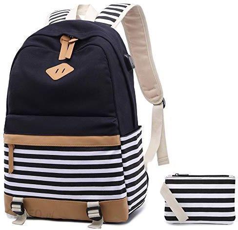 fb8ce719959b2 Amazon Netchain plecak szkolny dla dziewczynek torba szkolna płócienny  plecak tornister plecak z paskami 15,
