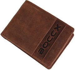 677fa4d724c1d Amazon BOCCX sportowe skórzana dla mężczyzn w stylu vintage portmonetka  mały portfel z 8 przegródkami na