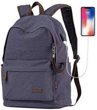 f74b201b5f2af Amazon Cmxing Canvas plecak przeciwkradzieżowy z portem USB do ładowania plecak  szkolny z metalowym zamkiem błyskawicznym