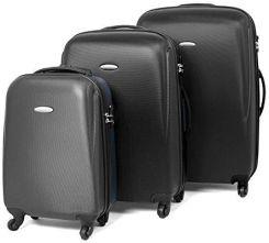 29a74c533ab66 Amazon Master Gear 3er walizka Zestaw składający się z ABS z zamkiem  błyskawicznym | 4 rolki