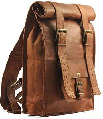 7f985b86a25c1 Amazon Indyjskie handmadecraft Vintage męski skórzany plecak Vintage Sling-BAG  Medium - zdjęcie 1