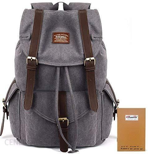 ca13c4a56eb23 Amazon KAUKKO uniseks vintage płócienny plecak podróżny na wędrówki kemping  plecak turystyczny torba podróżna plecak na