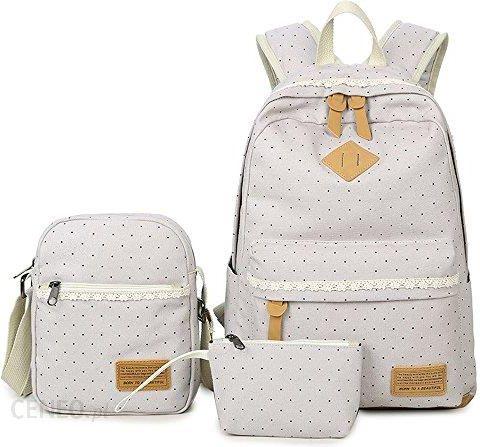 c2fceca27a7ec Amazon Nowy plecak szkolny + torba chłodząca + piórnik torby szkolne 3  zestaw z płótna dla
