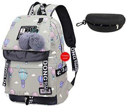 Amazon JUND modna damska torba szkolna Kawaii plecak plecak dziewczęcy luźny wodoszczelny plecak szkolny nastolatki plecak dzienny, kolor: khaki