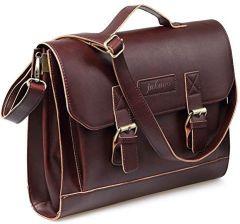 0864af4bb8fb6 Amazon jakago Vintage skórzana torba na ramię stylowy męski damski School  Bag torba do pracy torba
