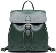 312c1319fc213 Amazon Prawdziwa skóra ze ściągaczem plecak damska torebka casual szkolny  plecak torba laptop torba na ramię