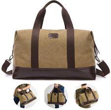 db48aaf615c78 Amazon Overmont 36I Vintage Canvas uniseks torba podróżna gimnastyka torba  weekendowa bagaż podręczny torba sportowa na