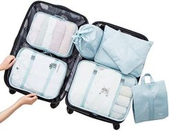 2faa358ea77e7 Amazon Belsmi zestaw toreb na ubrania podróżne