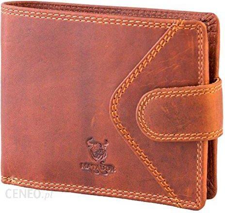 df01247aa7ccb Amazon Matador męski portfel portmonetka portfel prawdziwa skóra bydła-RFID  ochronę w kolorze brązowym format