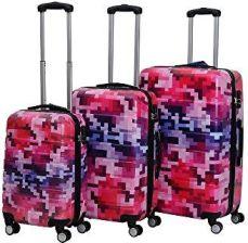 2e88f43d5570e Amazon Hot Case walizka podróżna Trolley utwardzana poliwęglanu z zamkiem  szyfrowym i 4 Kółka-Zwilling