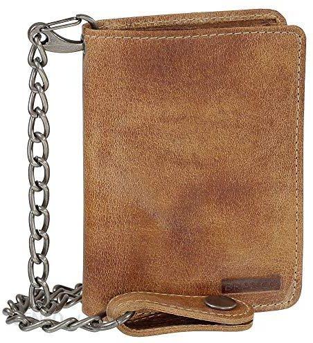 5714695319d7d Amazon Luksusowy skórzany portfel rowerowy z łańcuszkiem Biker portfel  portmonetka portfel 10 cm 34015 vers.