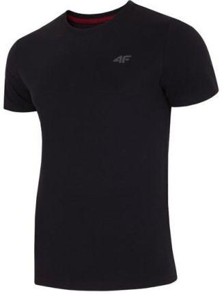 0afe69cbecc510 Koszulka, t-shirt męski 4F TSM002, głęboka czerń, Lato 2019 - Czarny