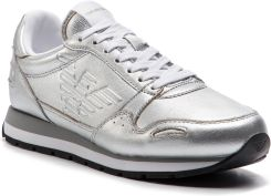 64bac84215d50 Sneakersy EMPORIO ARMANI - X3X058 XF278 00520 Silver eobuwie