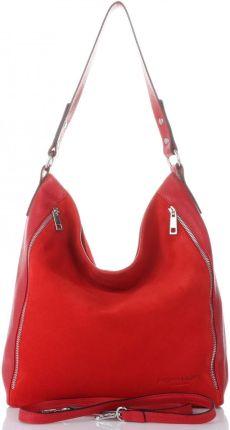 7f5e22b645c54 Włoskie Torebki Damskie Skórzane na każdą okazję w rozmiarze XL marki  Vittoria Gotti Czerwone (kolory ...