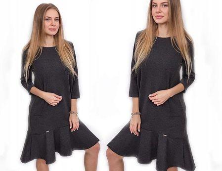 3725c6ad66 SELFIEROOM Sukienka BASIC LONG - szara - Ceny i opinie - Ceneo.pl