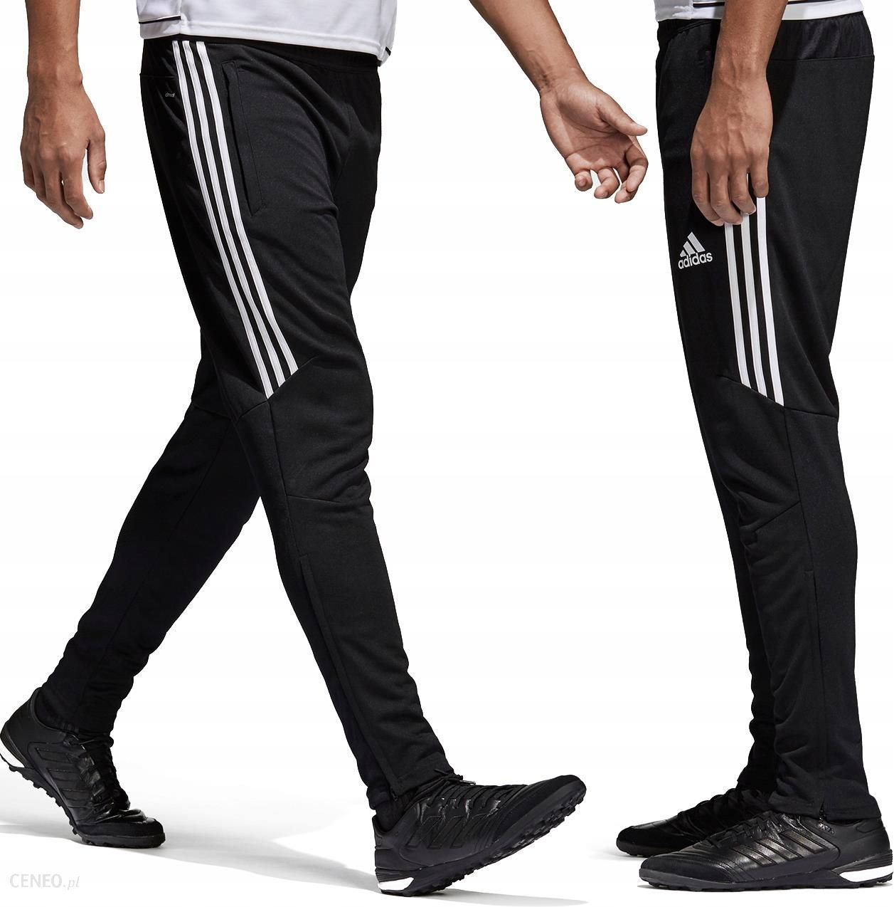 Adidas Spodnie Męskie Dresowe Długie Czarne **L