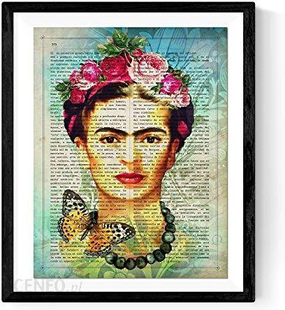 Amazon Frida Kahlo Wydruków Nawet Portrait Na Hiszpańskim Definicji Urządzeń Plakat Artystyczny Na Papierze O Gramaturze 250 G Ceneopl