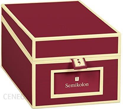Amazon Semikolon Pudełko Do Przechowywania Wizytówek Dostępne W Różnych Kolorach Bordowy Ceneo Pl