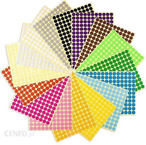 70af6ca83624fe Amazon Okragle Naklejki Punktowe 2 Cm Samoprzylepne Kolorowe Kropki